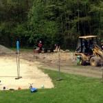 Bauarbeiten für den neuen Kinderspielplatz