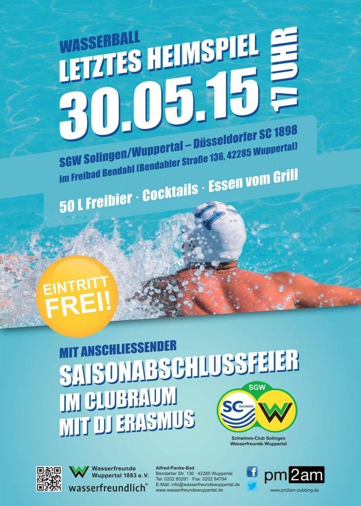 2. Wasserball-Liga: SGW Solingen/Wuppertal - Düsseldorfer SC @ Alfred-Panke-Bad   Wuppertal   Nordrhein-Westfalen   Deutschland